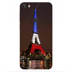Coque De Protection Tour Eiffel Couleurs France Pour Alcatel Idol 5