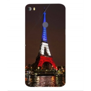 Coque De Protection Tour Eiffel Couleurs France Pour Alcatel Idol 5s