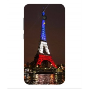 Coque De Protection Tour Eiffel Couleurs France Pour Alcatel U5 HD