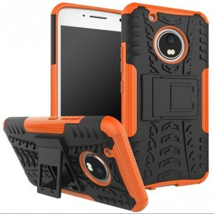 Protection Antichoc Type Otterbox Orange Pour Motorola Moto G5