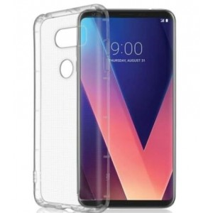 Coque De Protection En Silicone Transparent Pour LG V30