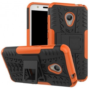 Protection Antichoc Type Otterbox Orange Pour Alcatel U5