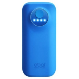 Batterie De Secours Bleu Power Bank 5600mAh Pour iPhone X