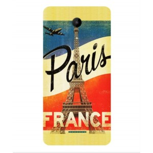 Coque De Protection Paris Vintage Pour Wiko Tommy 2 Plus