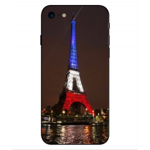 Coque De Protection Tour Eiffel Couleurs France Pour iPhone 8