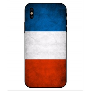 Coque De Protection Drapeau De La France Pour iPhone X