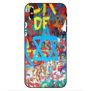 Coque De Protection Graffiti Tel-Aviv Pour iPhone X