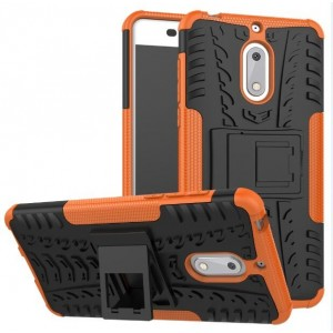 Protection Antichoc Type Otterbox Orange Pour Nokia 6
