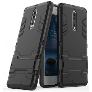 Protection Solide Type Otterbox Noir Pour Nokia 8