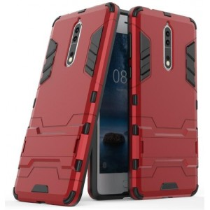 Protection Antichoc Type Otterbox Rouge Pour Nokia 8