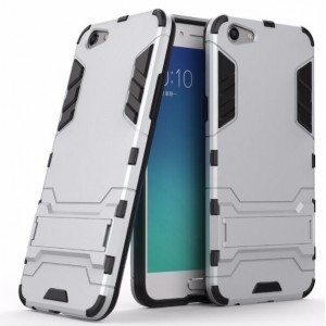 Protection Antichoc Type Otterbox Argent Pour Oppo A77