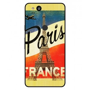 Coque De Protection Paris Vintage Pour Google Pixel 2