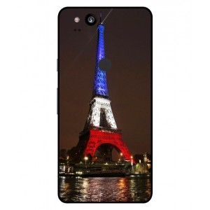 Coque De Protection Tour Eiffel Couleurs France Pour Google Pixel 2 XL
