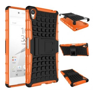 Protection Antichoc Type Otterbox Orange Pour Sony Xperia Z5 Premium