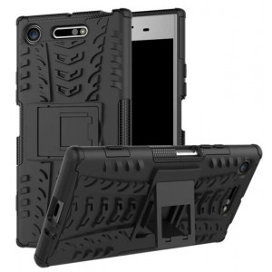 Protection Solide Type Otterbox Noir Pour Sony Xperia XZ1 Compact