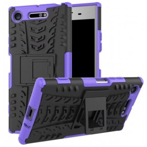 Protection Antichoc Type Otterbox Violet Pour Sony Xperia XZ1 Compact