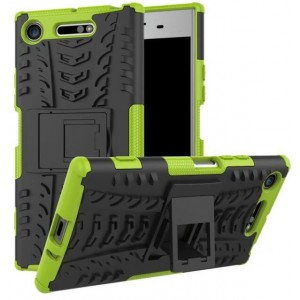 Protection Antichoc Type Otterbox Vert Pour Sony Xperia XZ1 Compact