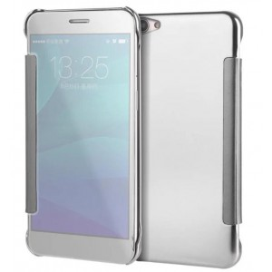 Protection Etui Flip Folio Dot View Blanc Pour Oppo A59