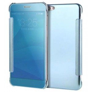 Protection Etui Flip Folio Dot View Bleu Pour Oppo A59