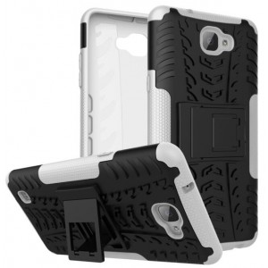 Protection Antichoc Type Otterbox Blanc Pour LG X5