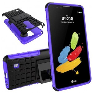 Protection Antichoc Type Otterbox Violet Pour LG Stylo 2