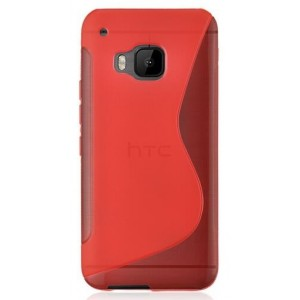 Coque De Protection En Silicone Rouge Pour HTC One S9