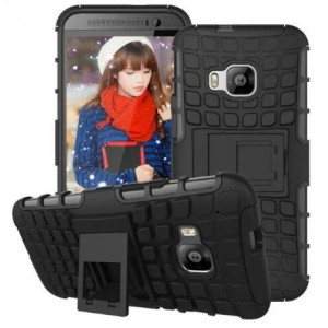 Protection Solide Type Otterbox Noir Pour HTC One S9