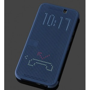 Protection Etui Flip Folio Dot View Bleu Pour HTC One S9