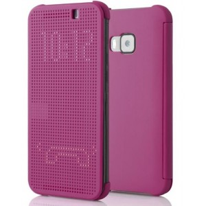 Housse Etui Flip Folio Dot View Violet Pour HTC One S9