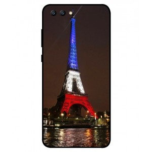 Coque De Protection Tour Eiffel Couleurs France Pour Huawei Honor View 10