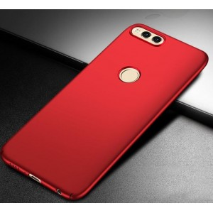 Coque De Protection Rigide Rouge Pour Huawei Honor 7X