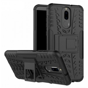 Protection Solide Type Otterbox Noir Pour Huawei Mate 10 Lite