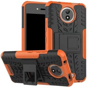Protection Antichoc Type Otterbox Orange Pour Motorola Moto C Plus