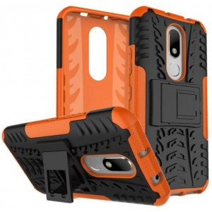 Protection Antichoc Type Otterbox Orange Pour Motorola Moto M