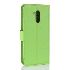 Protection Intégrale Portefeuille En Cuir Vert Pour Huawei Honor V9 Play