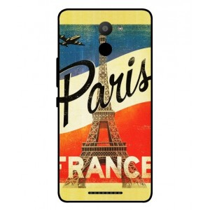 Coque De Protection Paris Vintage Pour BQ Aquaris U Plus