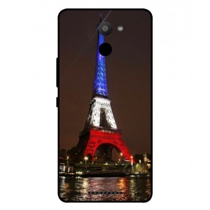 Coque De Protection Tour Eiffel Couleurs France Pour BQ Aquaris U Plus