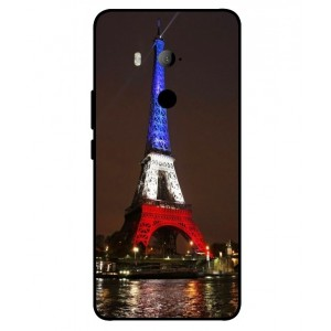 Coque De Protection Tour Eiffel Couleurs France Pour HTC U11 Eyes