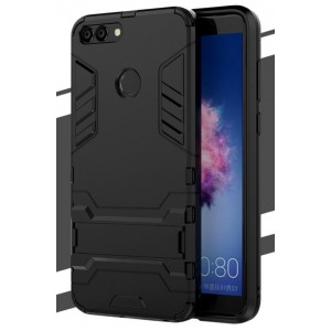 Protection Solide Type Otterbox Noir Pour Huawei P Smart