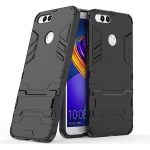 Protection Solide Type Otterbox Noir Pour Huawei Honor 7X