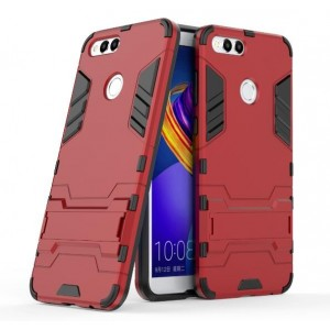 Protection Antichoc Type Otterbox Rouge Pour Huawei Honor 7X