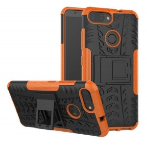 Protection Antichoc Type Otterbox Orange Pour Asus Zenfone Max Plus M1