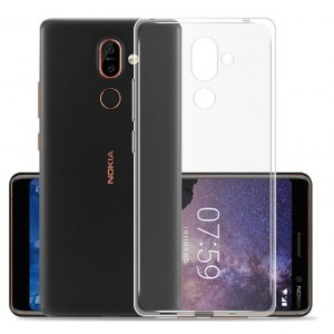 Coque De Protection En Silicone Transparent Pour Nokia 7 Plus