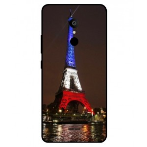 Coque De Protection Tour Eiffel Couleurs France Pour Alcatel 3c