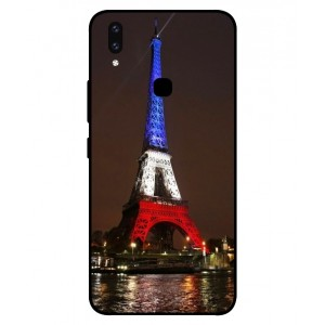 Coque De Protection Tour Eiffel Couleurs France Pour Vivo V9