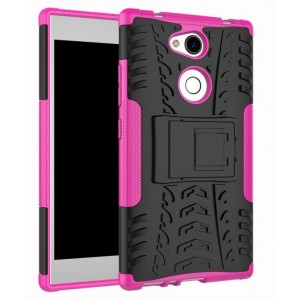 Protection Antichoc Type Otterbox Rose Pour Sony Xperia L2