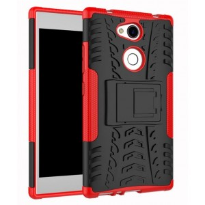 Protection Antichoc Type Otterbox Rouge Pour Sony Xperia L2