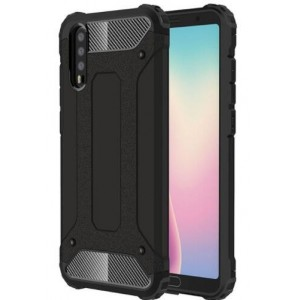 Protection Solide Type Otterbox Noir Pour Huawei P20