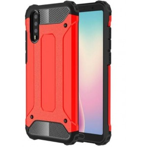 Protection Antichoc Type Otterbox Rouge Pour Huawei P20