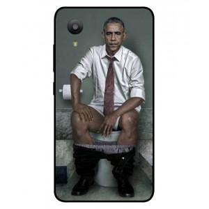 Coque De Protection Obama Aux Toilettes Pour Sharp Aquos S3 Mini